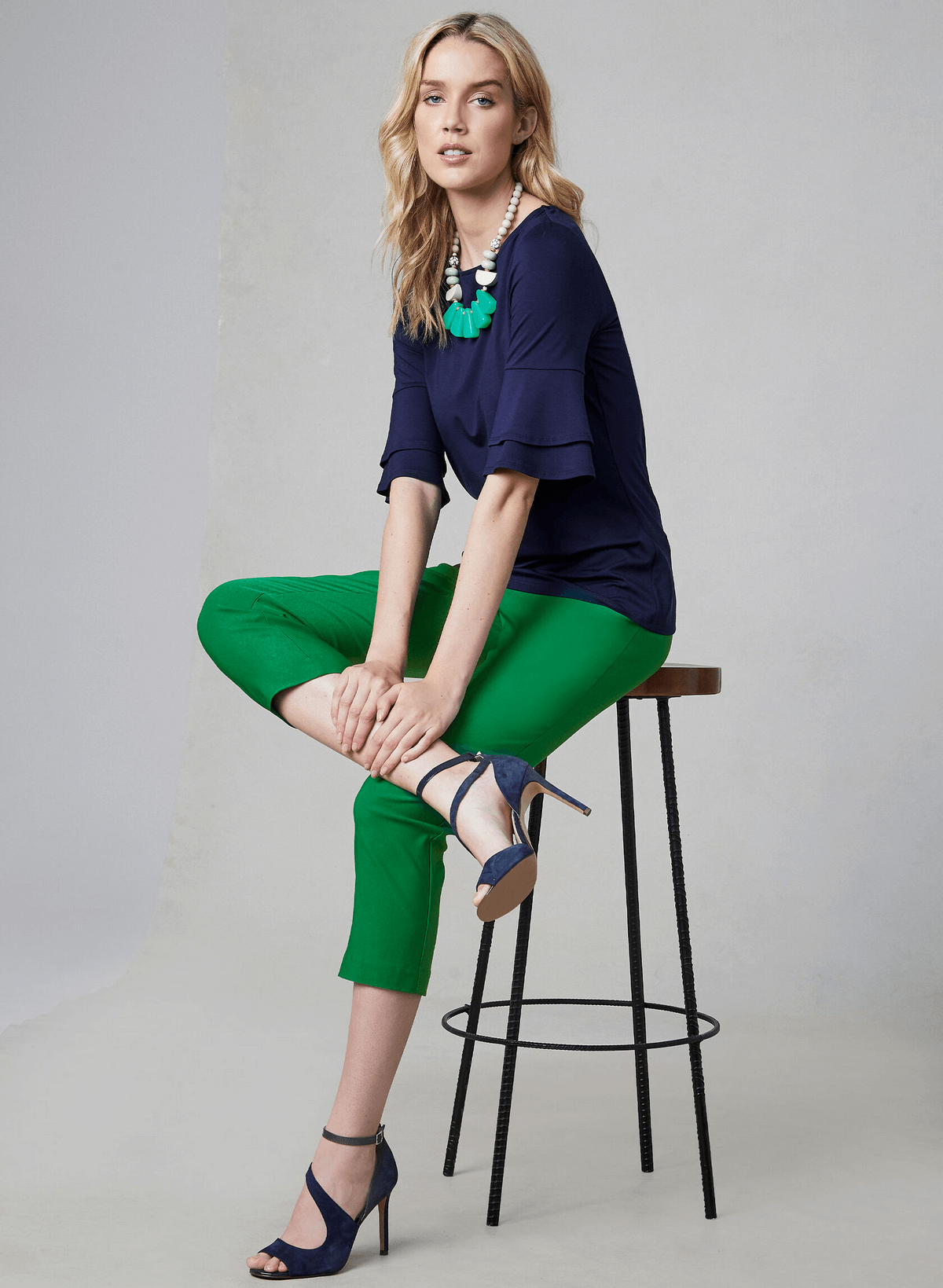 textColour blocking - Navy and green 03 - Melanie Lyne